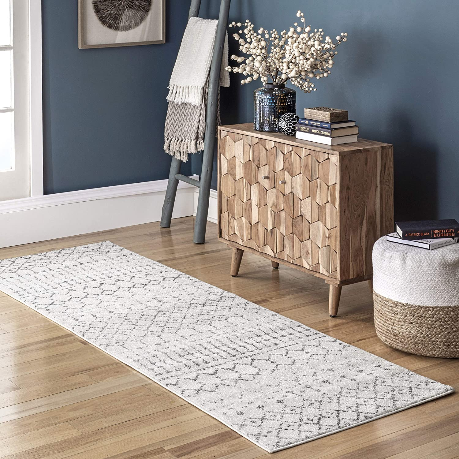 nuLOOM Moroccan Blythe Runner Rug 2' Limited price sale x Grey Off-white Long-awaited 12' 8