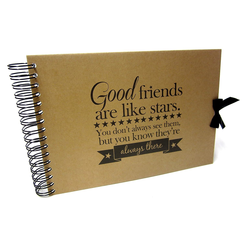 Kraft A5 A4 Good Friends Card Pages Scrapbook Black Pages Photo Album A5 Best Friends Memory Keepsake