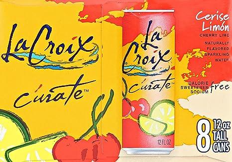 lacroix c rate cerise limon sparkling water cherry lime 12oz slim rh amazon com