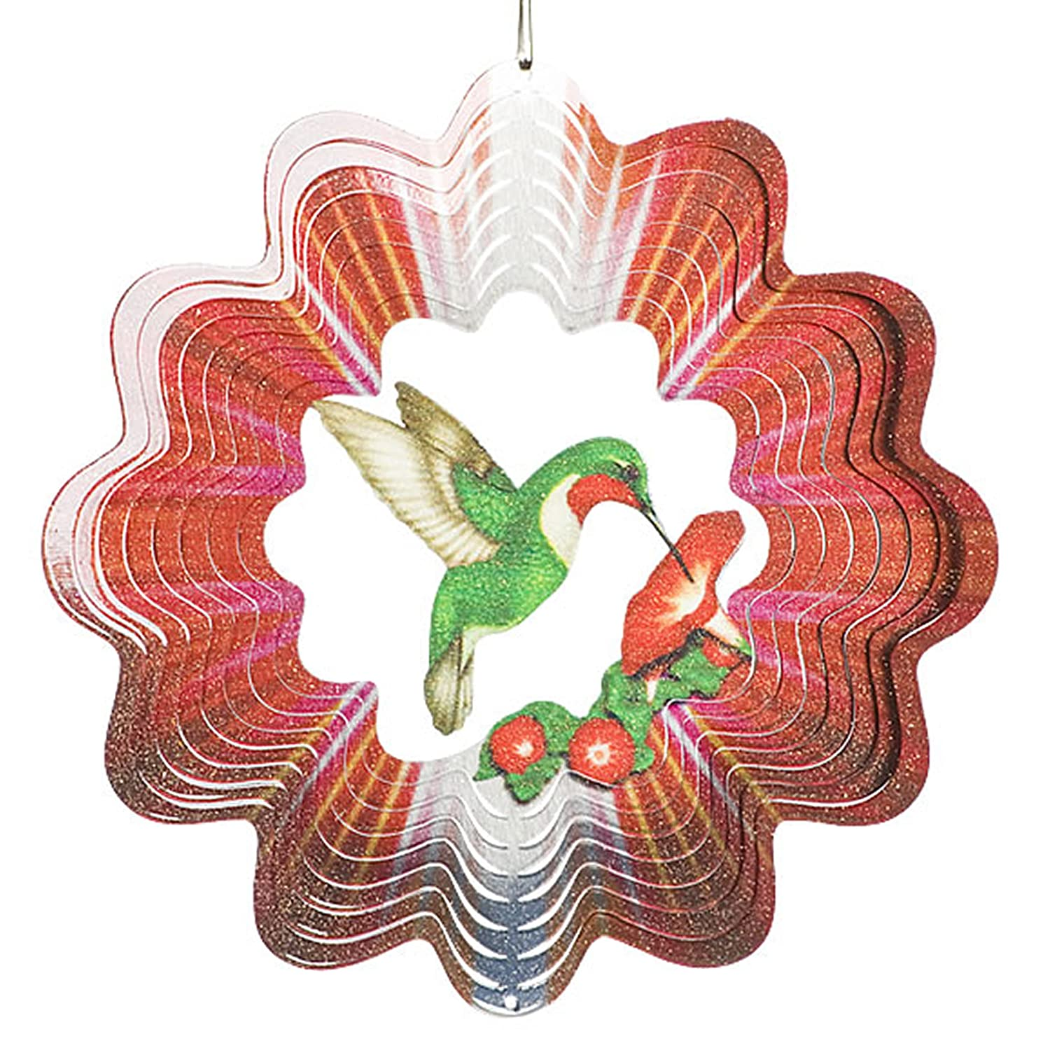 Designer Green Hummingbird Wind Spinner