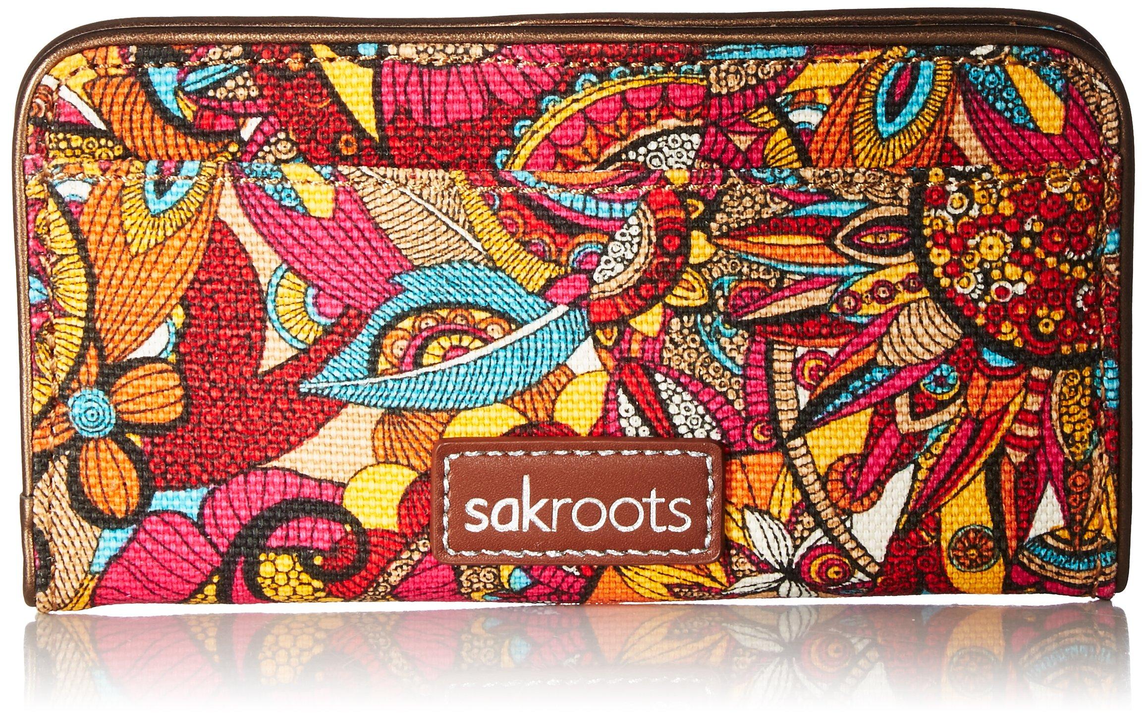 Sakroots Slim Wallet, Berry Spirit Desert