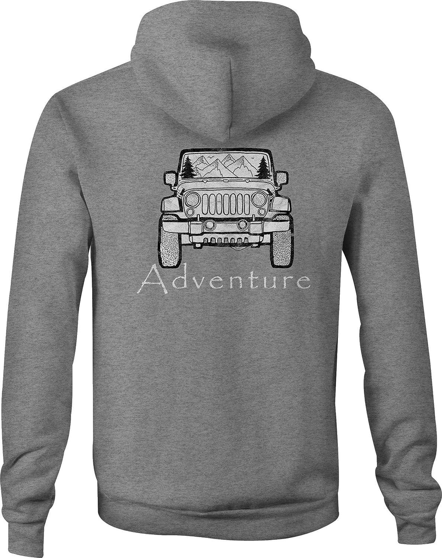 4x4 Zip Up Hoodie Wrangler Adventure Hooded Sweatshirt for Men