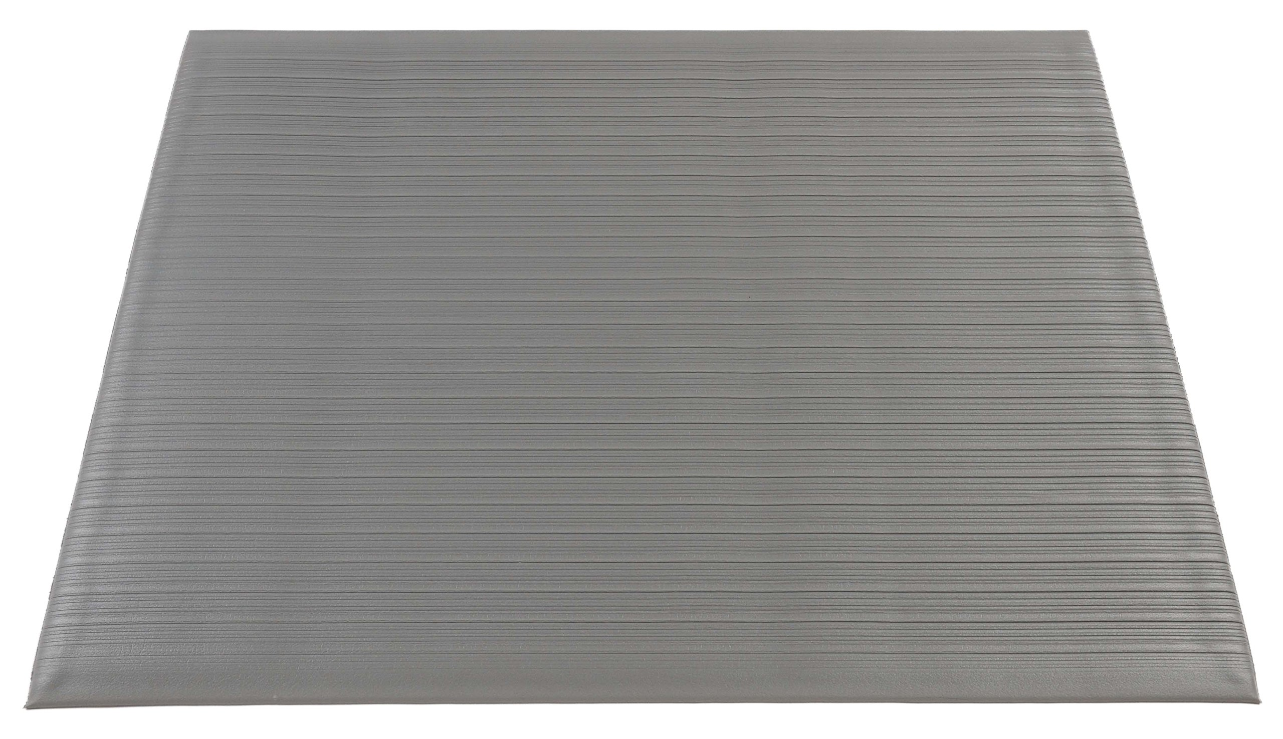 Americo Manufacturing 7106034 3/8'' Eversoft Standard Anti-Fatigue Indoor Matting with Ribbed Surface, 3' x 4', Gray