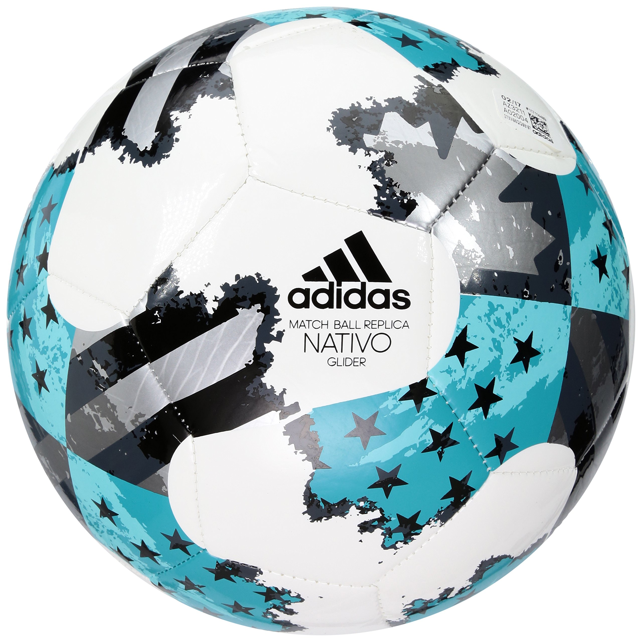 e3cc8c2fd Galleon - Adidas Performance MLS Glider Soccer Ball, White/Energy Blue/Bold  Onyx, Size 3