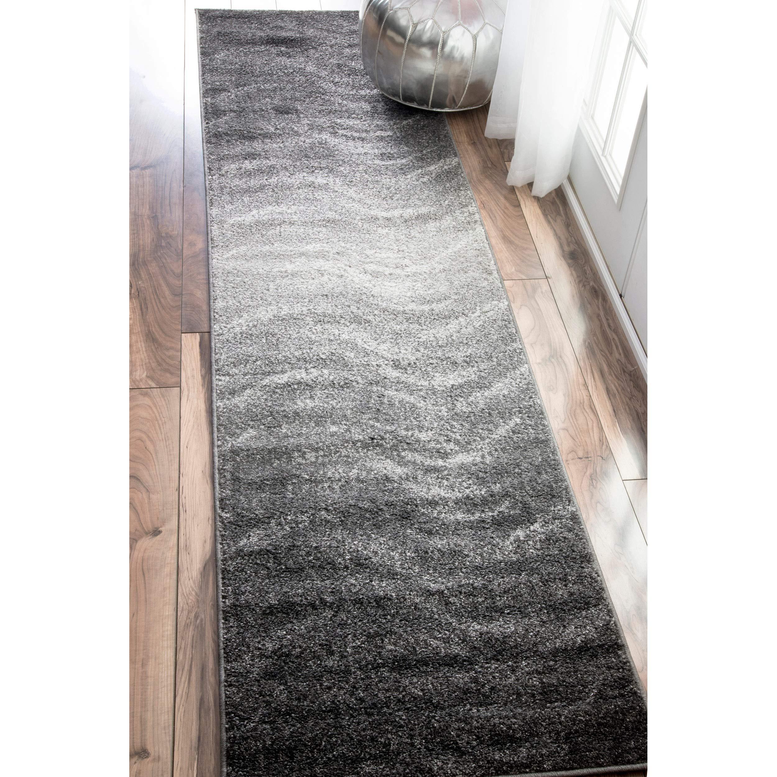 nuLOOM Julene Contemporary Runner Rug, 2' 6'' x 12', Grey by nuLOOM