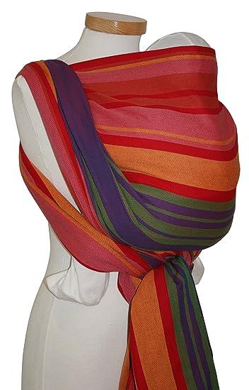 6df242c5d9b Amazon.com   Storchenwiege Woven Cotton Baby Carrier Wrap (4.1