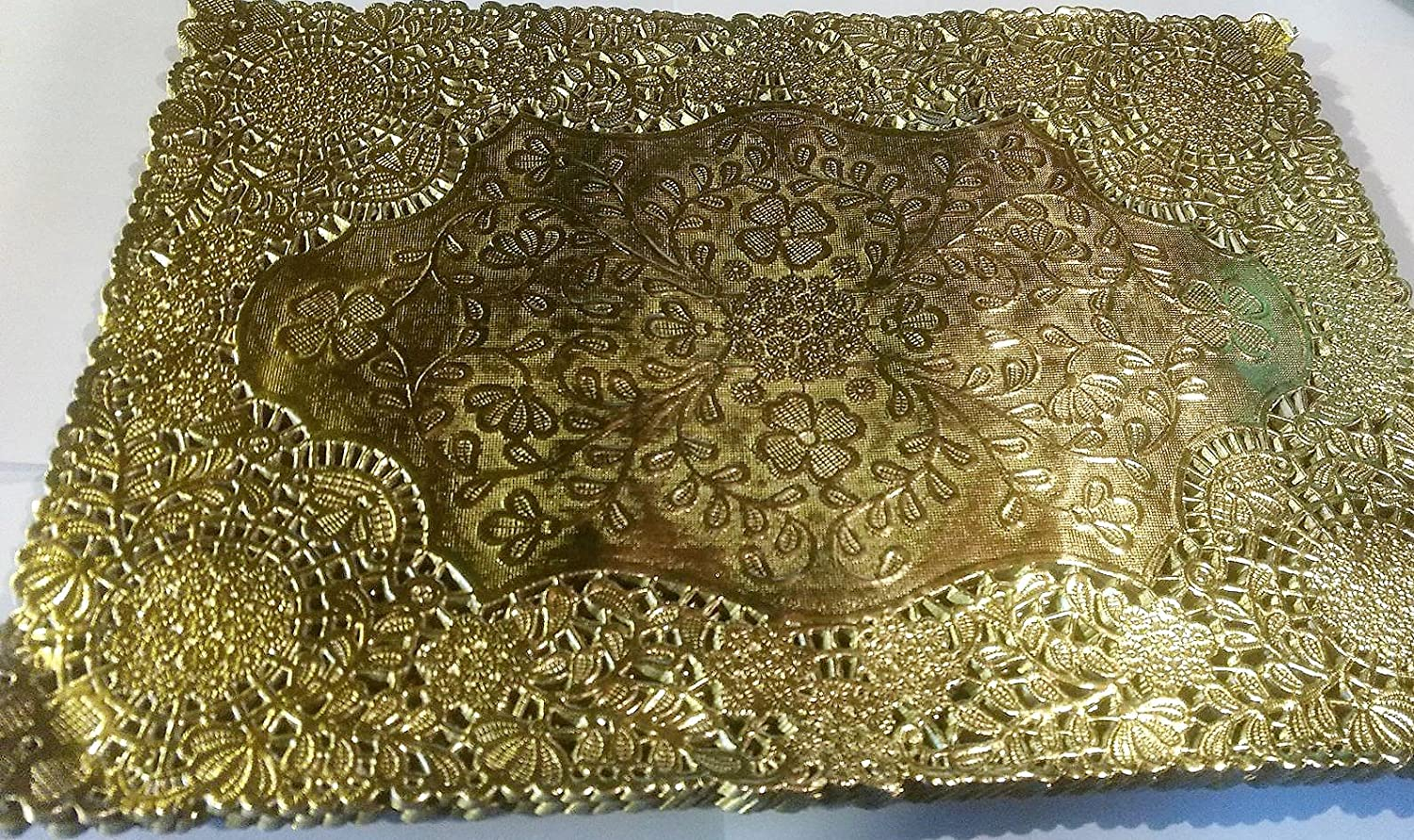 Gold Doily Placemat 10x14\