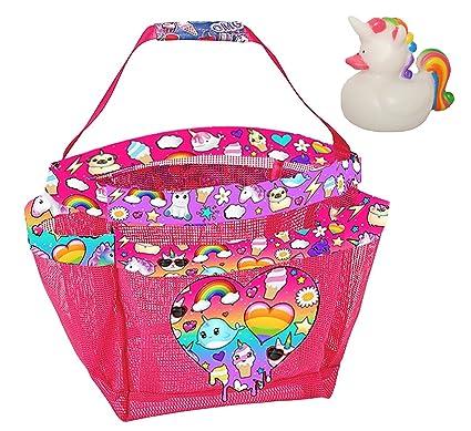 Amazon.com: Unicorn Dreams Shower Caddy and Unicorn Rubber Ducky ...