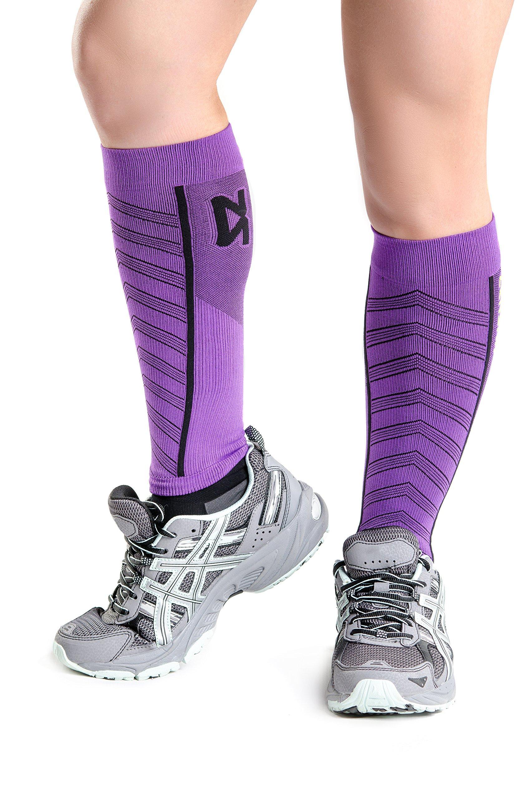 Zensah Featherweight Compression Sleeves, Purple, Medium by Zensah