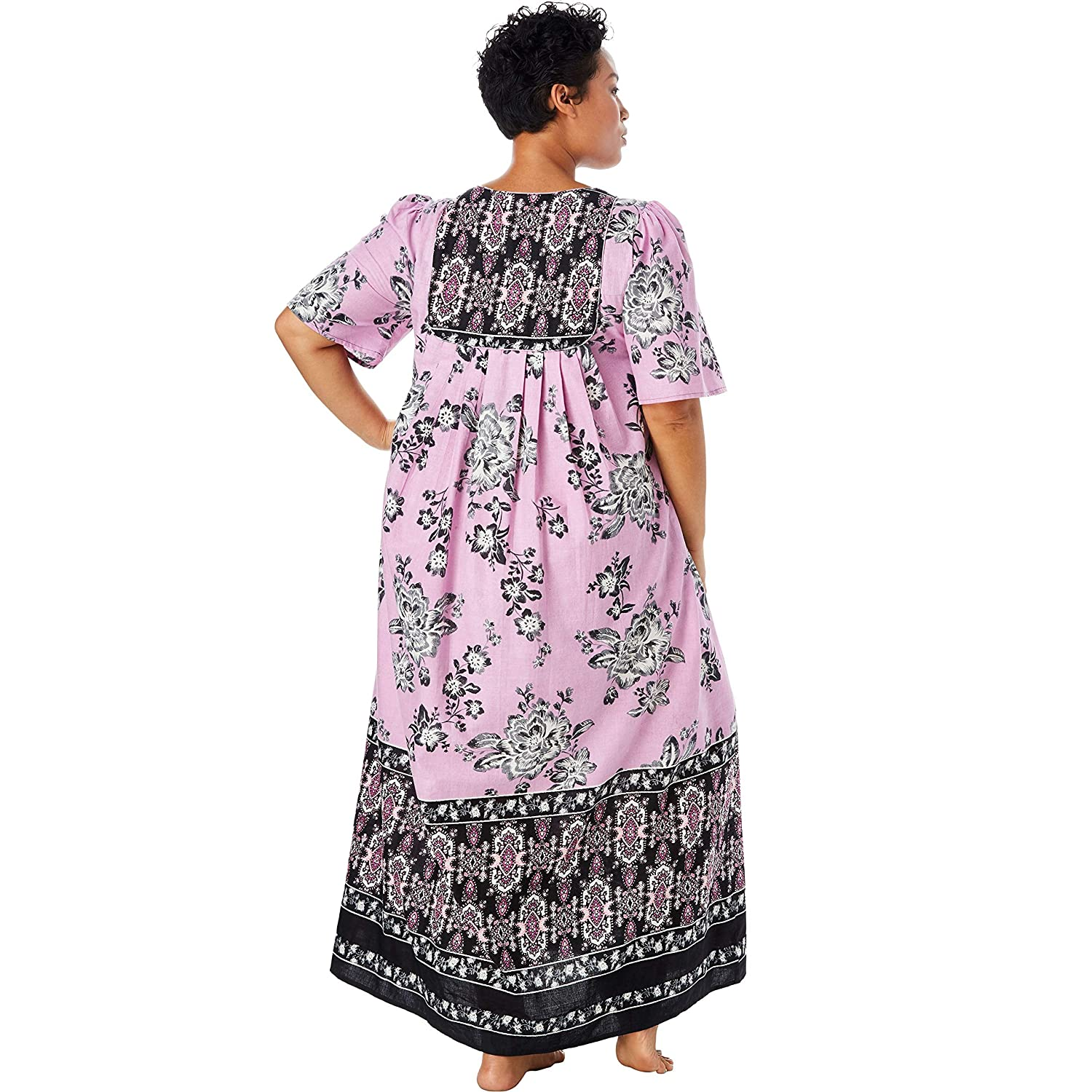 9b1fb5e6b4fdb Only Necessities Women s Plus Size Mixed Print Long Lounger at Amazon  Women s Clothing store