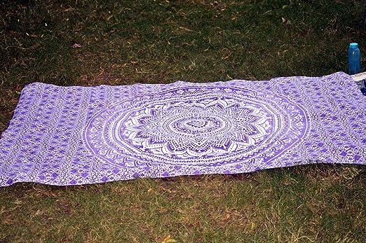 Marusthali Hoja India de Yoga de Mandala de Algodón Hoja de ...