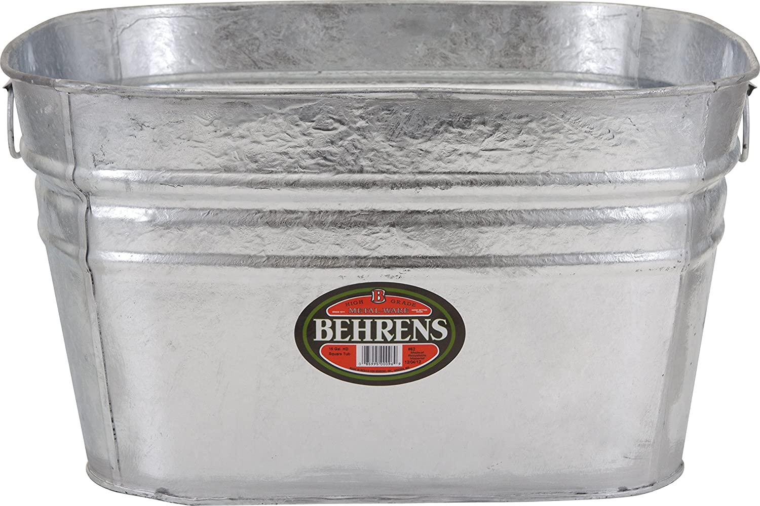 Behrens 62 Stainless Steel Tub, 15 gallon, Silver