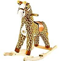 Baybee Unicorn Horse Wooden Rocker for Kids (Brown)