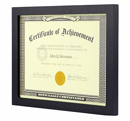 amazon com longlongtime 8 5x11 inch black document frame made to