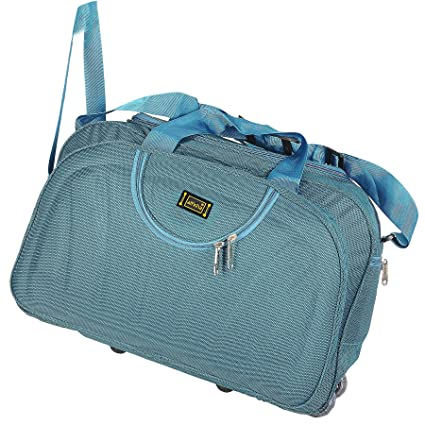 Alfisha Polyester Blue Lightweight Waterproof Luggage Travel Duffel Bag   Amazon.in  Bags, Wallets   Luggage d3f145a12c