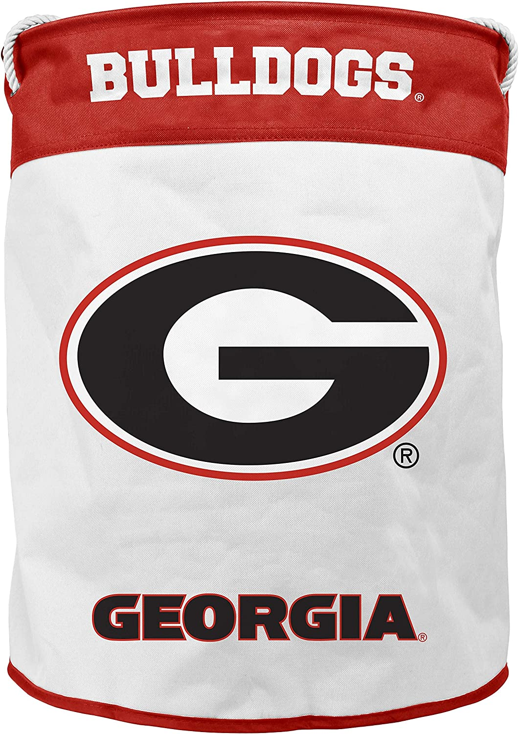 NCAA Georgia Bulldogs Canvas Laundry Basket with Braided Rope Handles