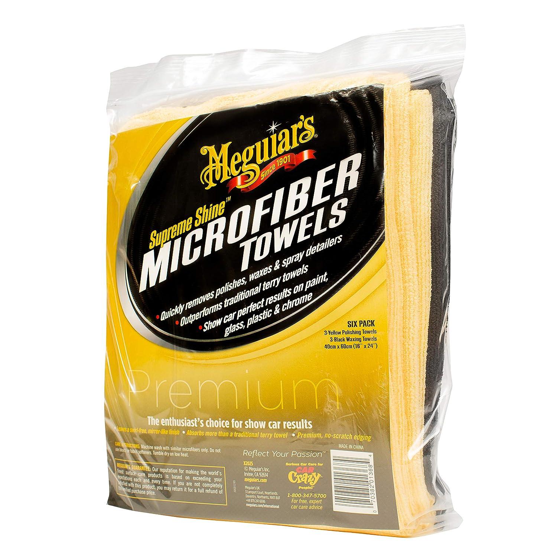 Com Meguiar S X2025 Supreme Shine Microfiber Towels 6 Pack Automotive