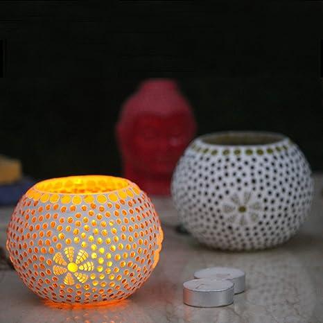 Spinning Rotatif Carousel Tea Light Candle Holder Stand Lumière Cadeau de Noël P8S4
