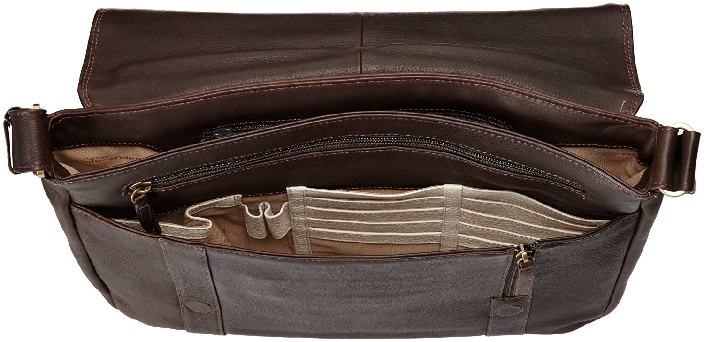 Brown One Size Derek Alexander Ew 3//4 Flap Unisex Messenger Bag