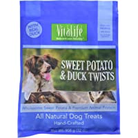 VitaLife Jerky Dog Treats - Natural, Grain Free Sweet Potato & Duck Twists 908 g