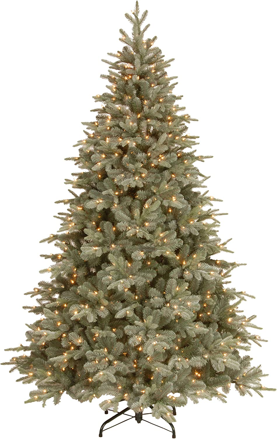 National Tree 7.5 Foot Feel Real Frost Arctic Spruce Tree with 750 Clear Lights, Hinged (PEFA1-300-75)