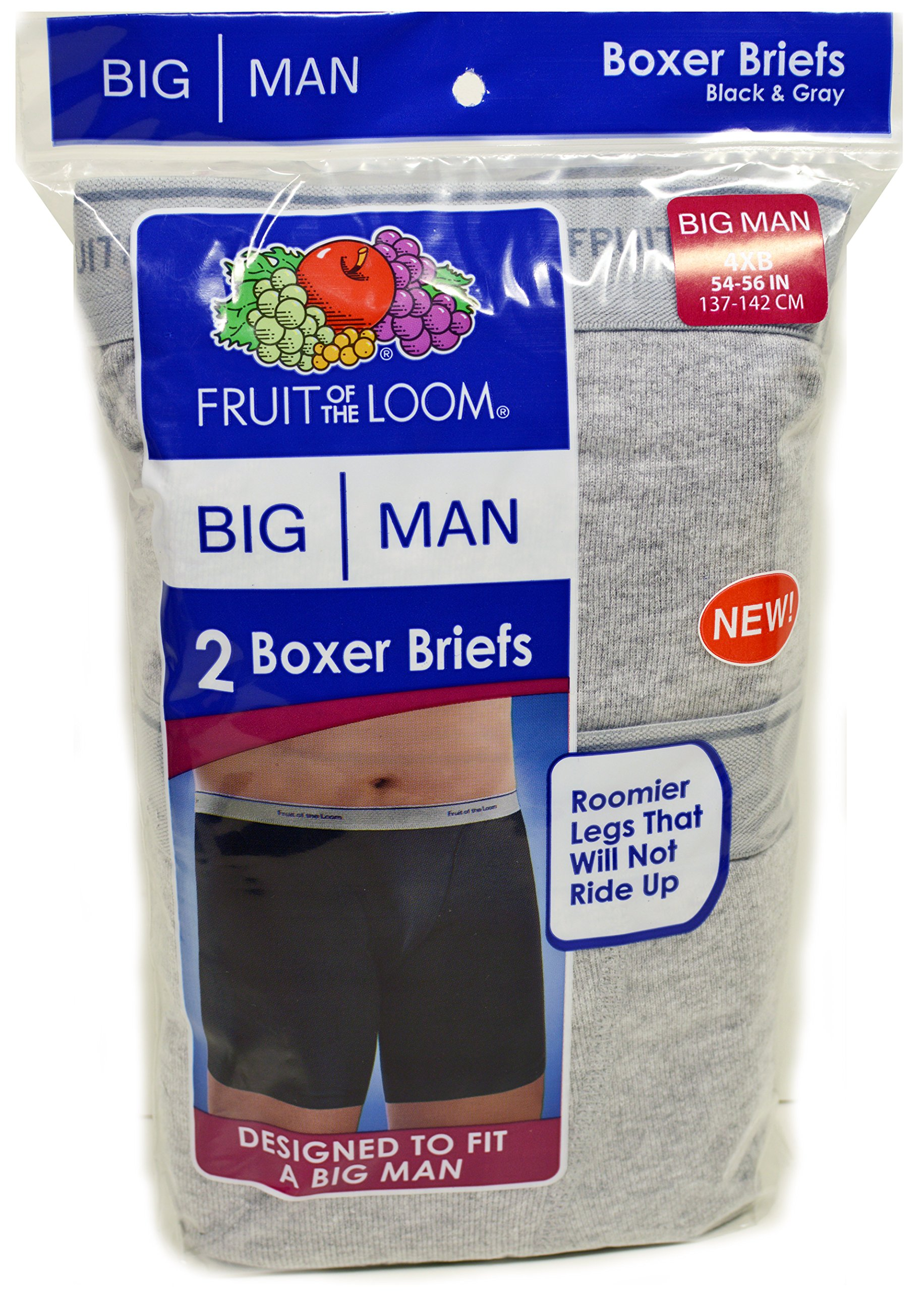 12 Fruit of the Loom Big Man Boxer Briefs (5X) by Fruit of the Loom (Image #3)