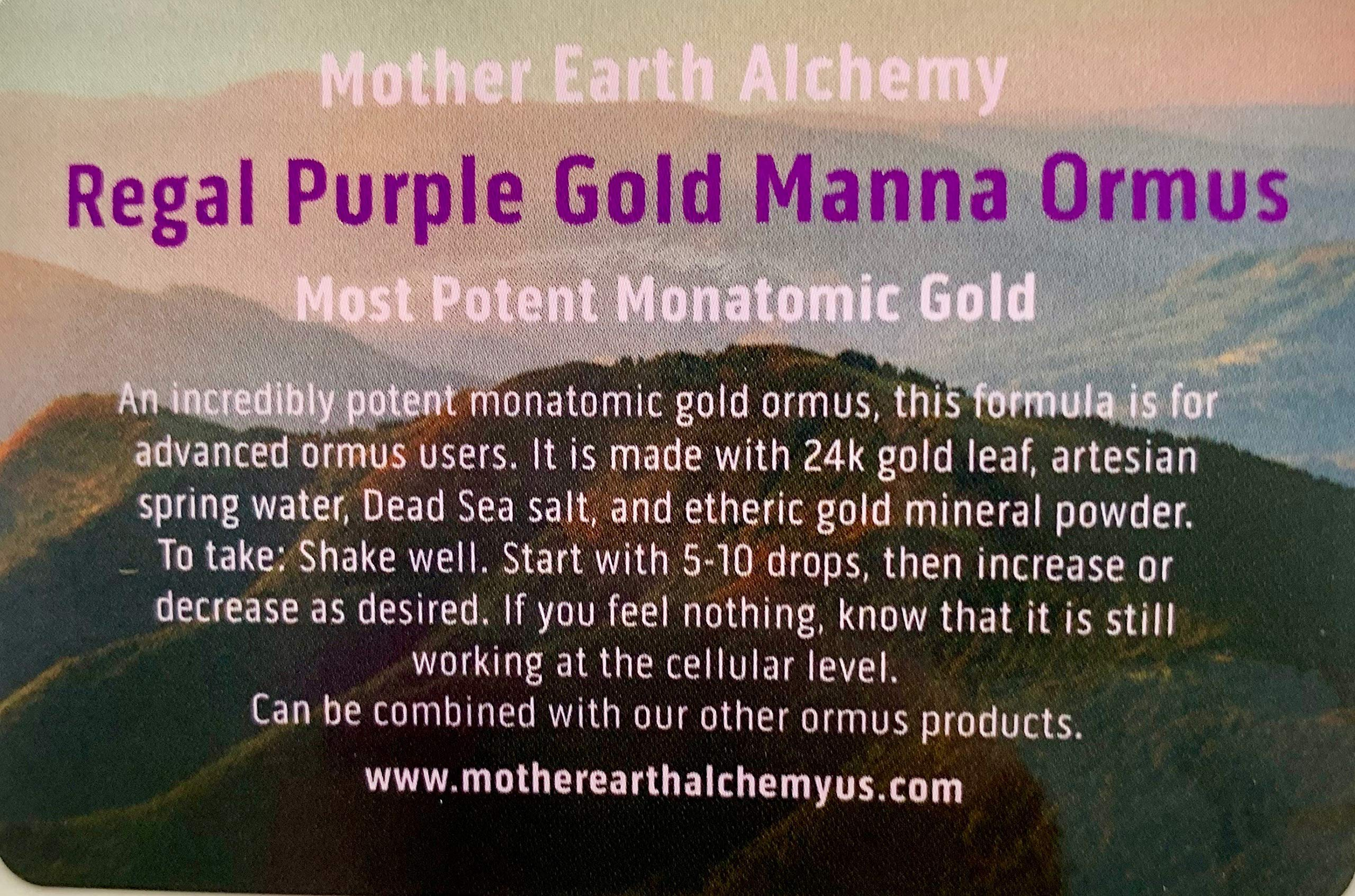Regal Purple Gold Manna Ormus - 1oz - Mother Earth Alchemy