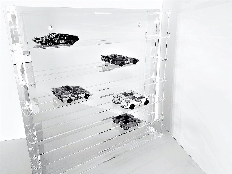 Técnicas Láser 1:43.4.2L6B/24.E Vitrina De Metacrilato, Transparente/Fondo Espejo, Montada mide 50x50x5 cm (altoxanchoxfondo), Set de 11 Piezas: Amazon.es: Bricolaje y herramientas