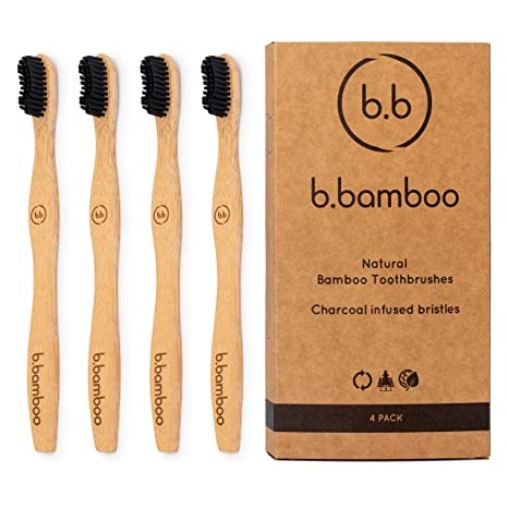 Cepillo de dientes de bambú ecológico biodegradable de madera, 100% libre de BPA y