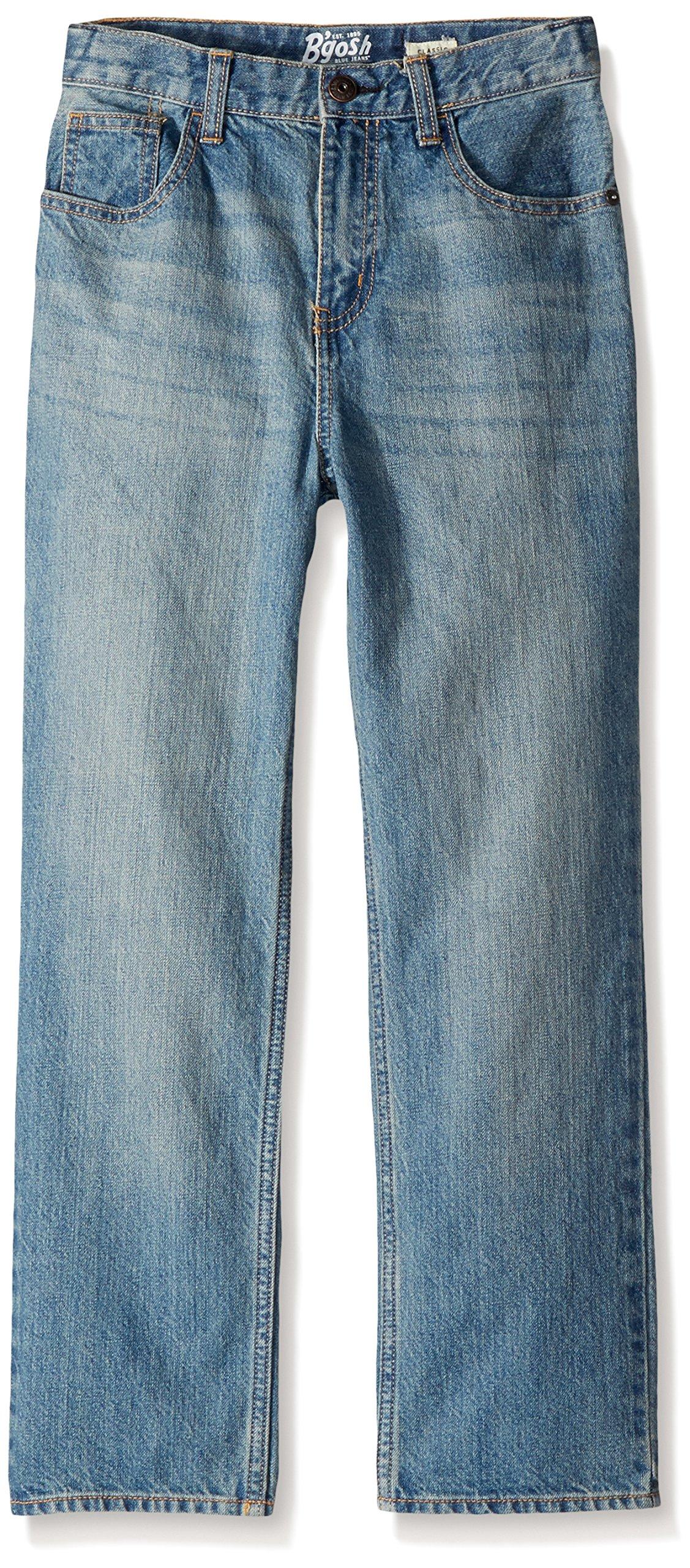 Osh Kosh Boys' Kids Classic Jeans, Natural Indigo, 8R
