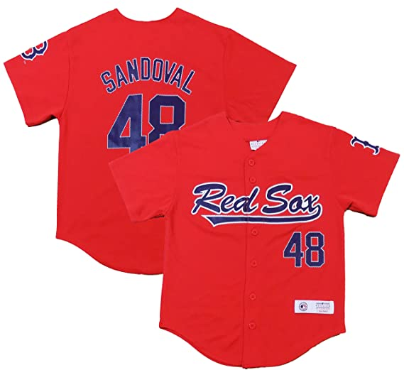 d657ac06 Outerstuff Pablo Sandoval Boston Red Sox #48 Red Youth Player Fashion Jersey  (Small 8