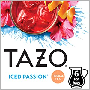 Tazo Iced Passion Tea Filter Tea Bag 24 count(Packaging may vary)