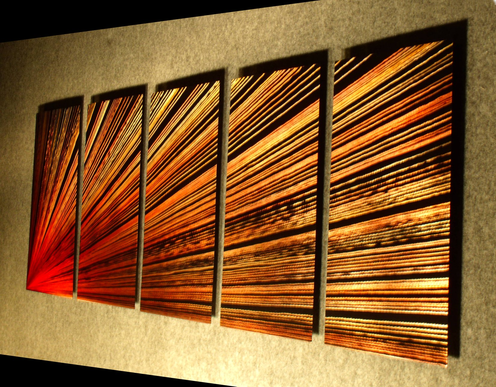 Pulsar left- 64 inch X 24 inch Abstract Painting Metal Wall Art by Nider the Internationally Acclaimed Artist of Modern Contemporary Decor Artwork by NiderArt