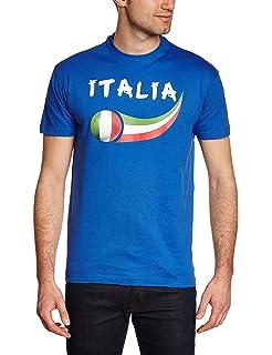 Ann Arbor T-shirt Co. «Italia» - La Azzurra Camiseta Unisex de fútbol para Hombre X-Large Azul - X-Grande - XL: Amazon.es: Ropa y accesorios
