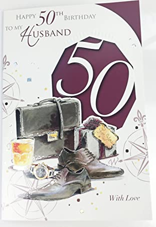 Ehemann 50 Geburtstag Karte Gross Grusskarte Fur Alter 50 Amazon De
