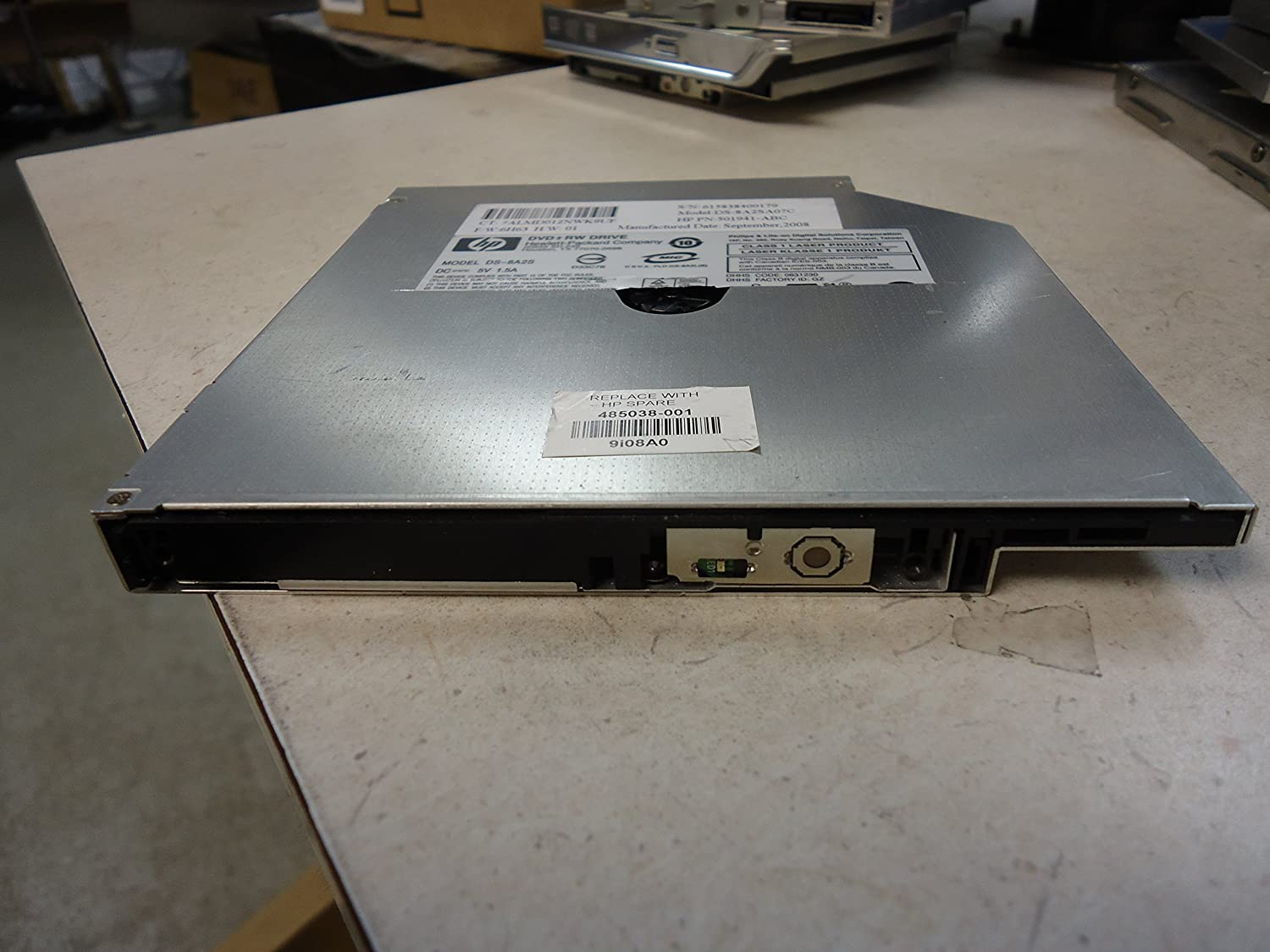 HP DVD-RW Drive NO FACEPLATE 485038-001 Model DS-8A2S DS-8A2SA07C 501941-ABC