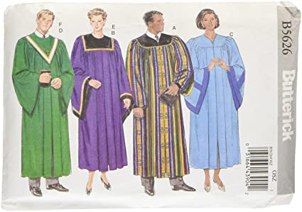 Amazon Butterick Patterns B5626 Unisex Robe And Collar All Sizes