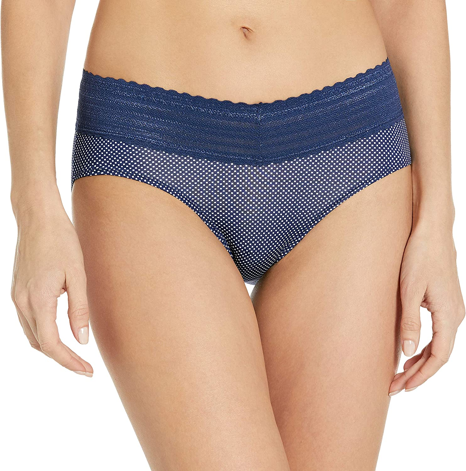 Warners Womens No Pinching No Problems 3 Pack Micro Hipster with Lace Panties Hipster Panties