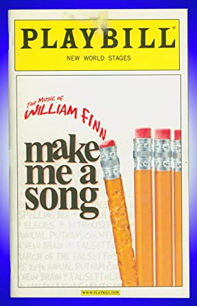 Make Me A Song Broadway Playbill Autographed By Sally Wilfert