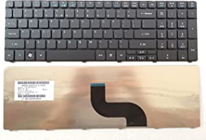 Keyboard for Acer Aspire 5810tz 5810PG 5800 5750 5745 5742 5741 5740G 5740DG 5740 5739G 5739 5738ZG 5738Z 5738G 5738 5736G 5736 5625 5553 5552 5551 5542G US AER15U00310 V160505AS1 black 5180