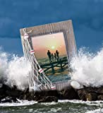 Puzzled Wooden Picture Frame with Starfish Seashell
