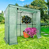 Serre de jardin casa pura® Botanika | pour tomates et autres plantes | résistant aux intempéries, stabilisé UV | avec piquets de fixation inclus