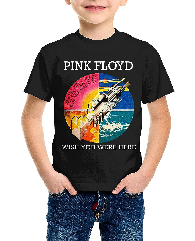 LaMAGLIERIA T-Shirt Kids Pink Floyd Wish You Were Here Maglietta Bambino Rock 100/% Cotone