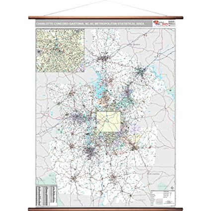 Gastonia Nc Zip Code Map.Amazon Com Marketmaps Charlotte Concord Gastonia Nc Metro Area