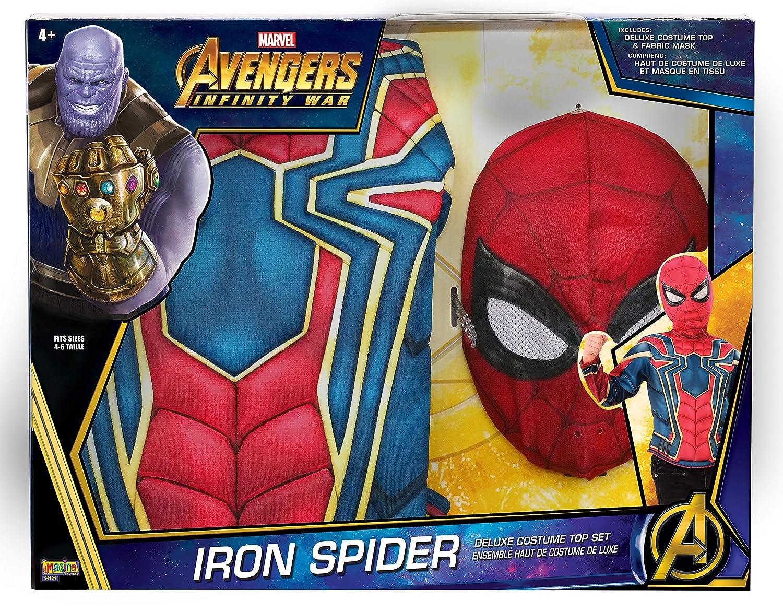 Spiderman - Disfraz de Iron Spider Infinity Wars para niños, pecho musculoso en caja, infantil talla única: Amazon.es: Juguetes y juegos