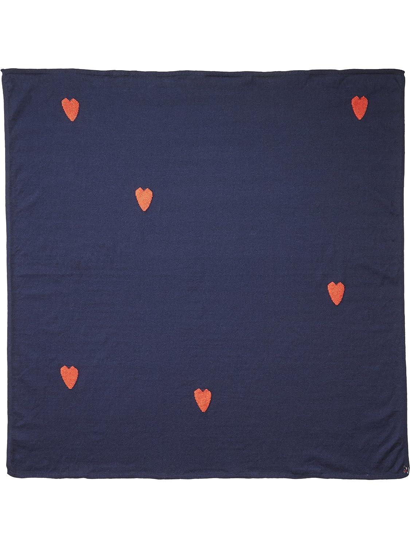 Scotch R' Belle Mädchen Schal, dunkelblau mit kleinen, roten Herzen Mehrfarbig (Combo B 22) One Size Scotch & Soda R´Belle 137974