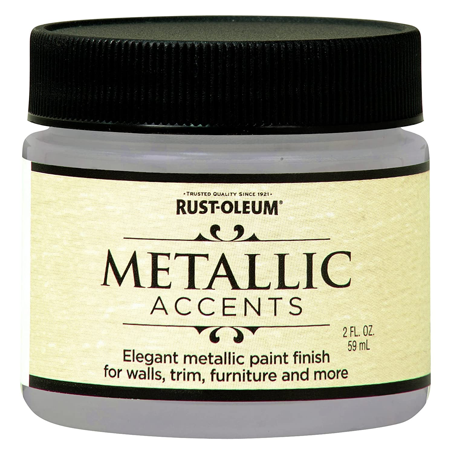 Rust-Oleum 255300 Metallic Accents Paint, 2 oz Trial Size, Champagne