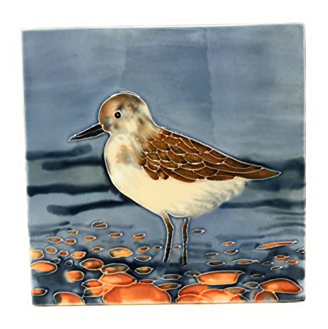 Amazon.com: Ceramic Art Trivet by Tile Craft, Sandpiper, Tabletop or ...