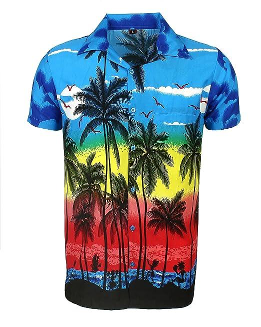 e70f708323 SAITARK Camisa Hawaiana para Hombre, Diseño de Palmeras, para la Playa,  Fiestas, Verano y Vacaciones: Amazon.es: Ropa y accesorios