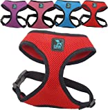 LSW Pet Design Harness for Small Dogs, for zieht–Breathable Fabric Blend–Variety of colours and sizes (Red Extra Small